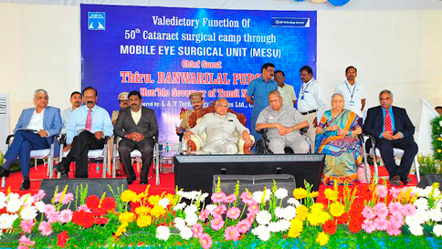 An image from Flagship of Sankara Nethralaya's community ophthalmology receives high praise from the State's 'First citizen'
